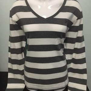 NWT Tommy Hilfiger V-Neck Striped Shirt XXL